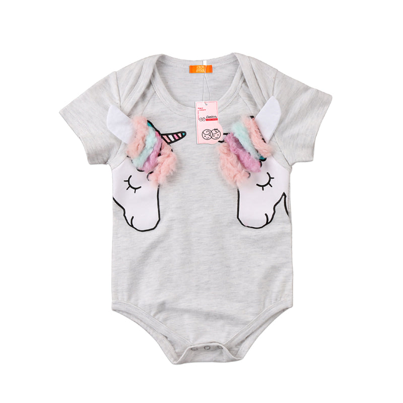3D Unicorn Short Sleeve Bodysuit