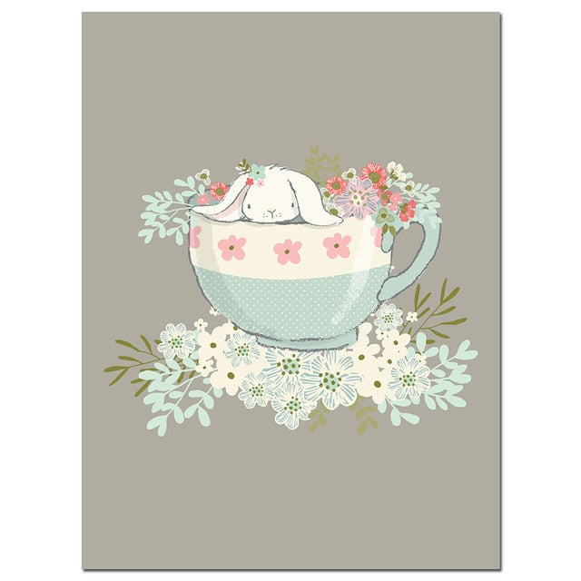 Rabbit Canvas Wall Art