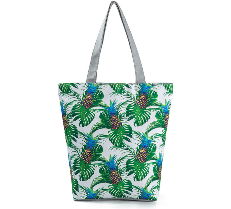 Pineapple & Monstera Shoulder Bag