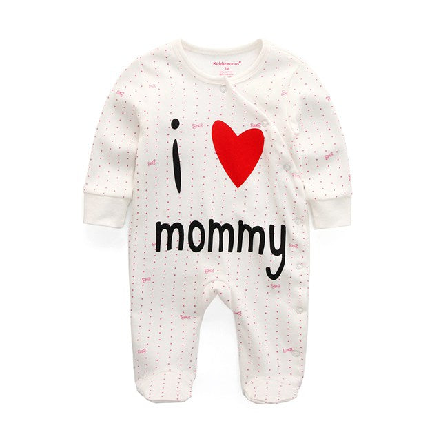 I Love Mommy Baby Romper
