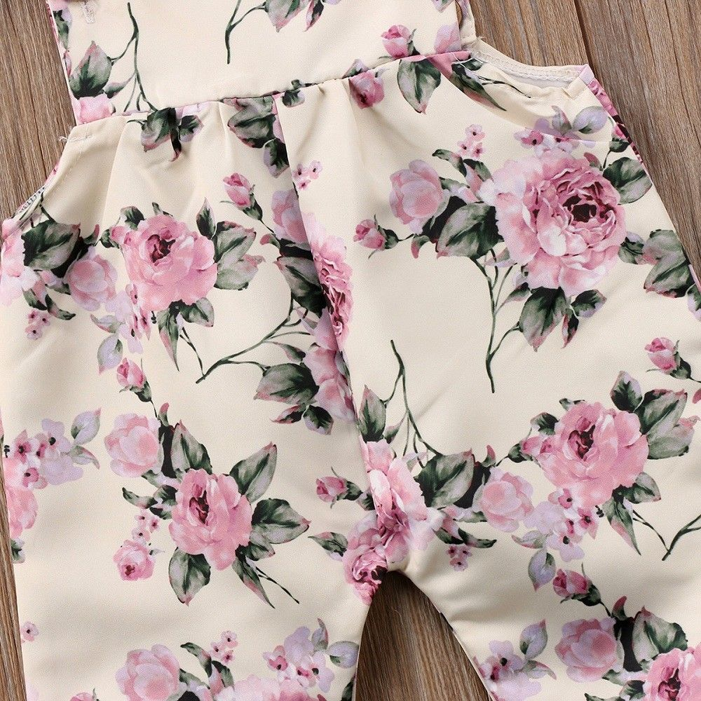 Sleeveless Pink Floral Jumpsuit