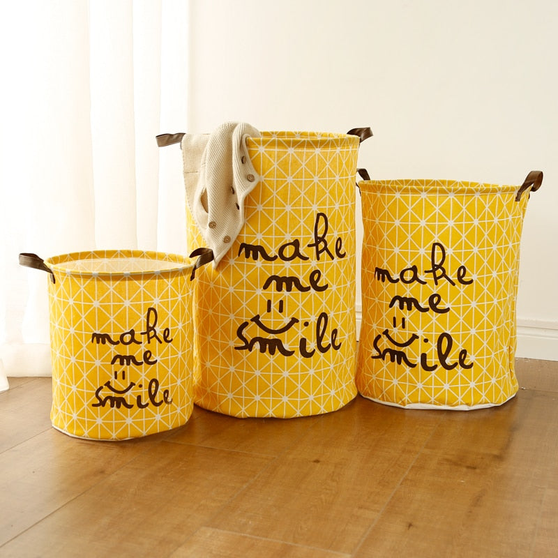 Cute Print Laundry Basket