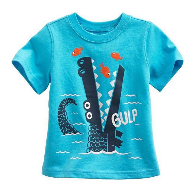Crocodile Aqua Summery T-Shirt