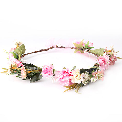 Ribbon Bow Floral Headband