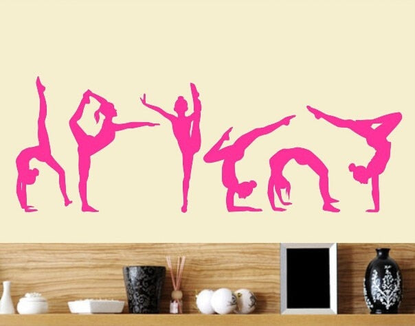 Six Dance Girls Wall Decal