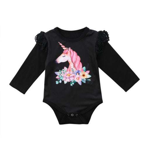 Long Sleeve Unicorn Bodysuit