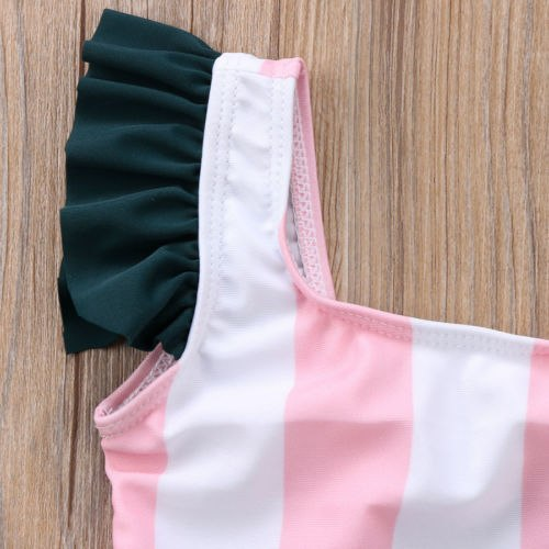 Cartoon Stripes Swimsuit