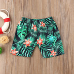 Summer Leaf Print Beach Shorts