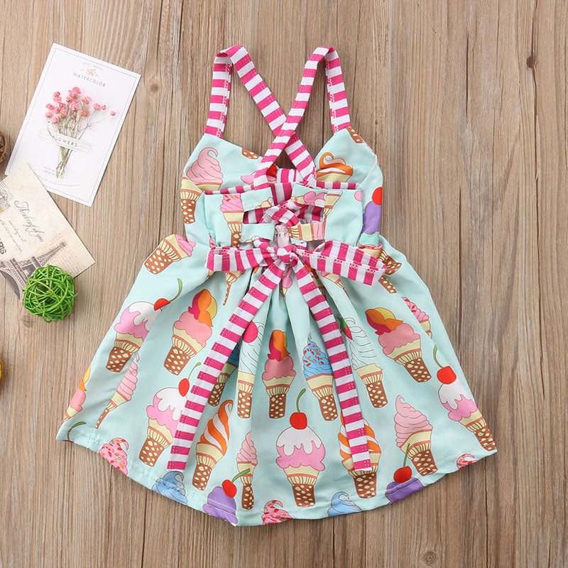 Summer Ice Cream Strap Sundress