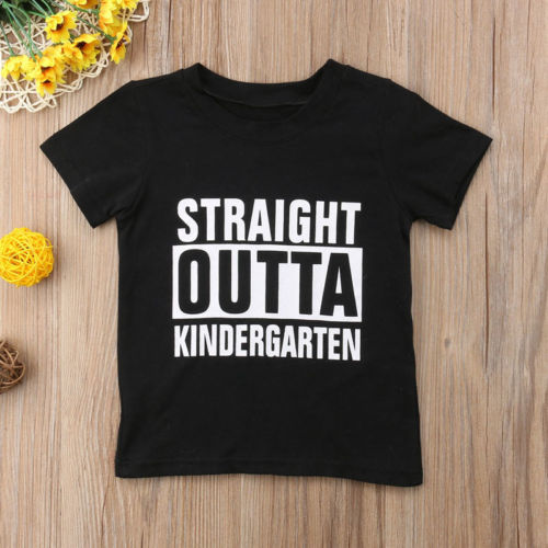 Straight Outta  Letter T-Shirts