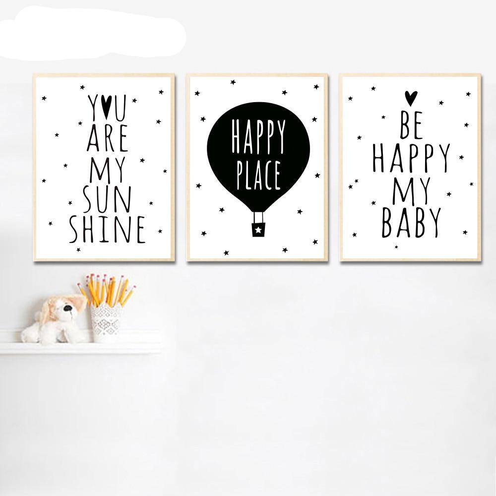 Black & White Canvas Wall Art