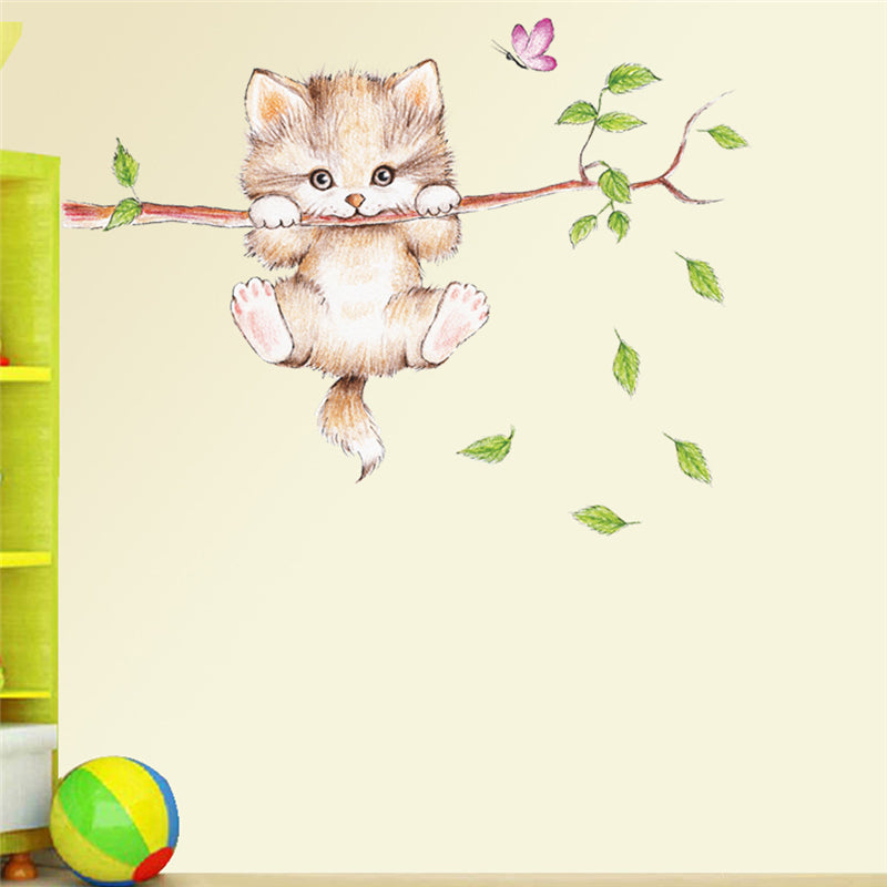Cute Cat Wall Decal