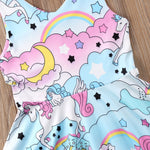 Sleeveless Pastel Unicorn Dress