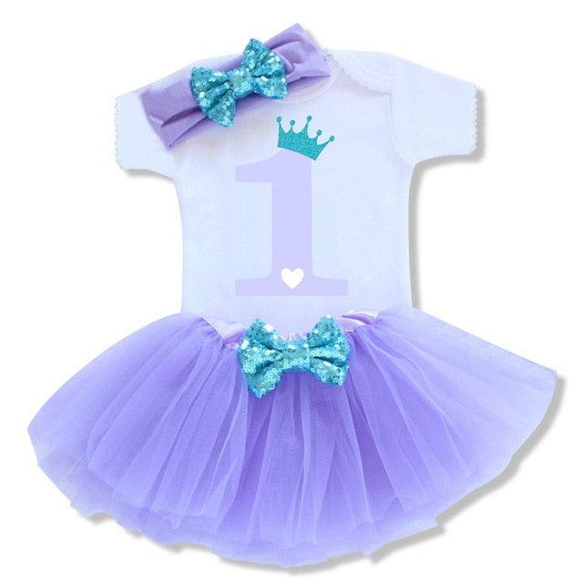 Dotted Party Tutu + Bodysuit + Headband