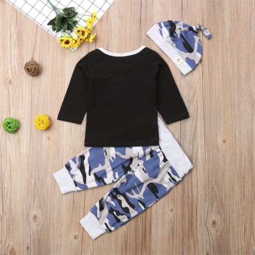 Stylish 3Pcs  Camo Set