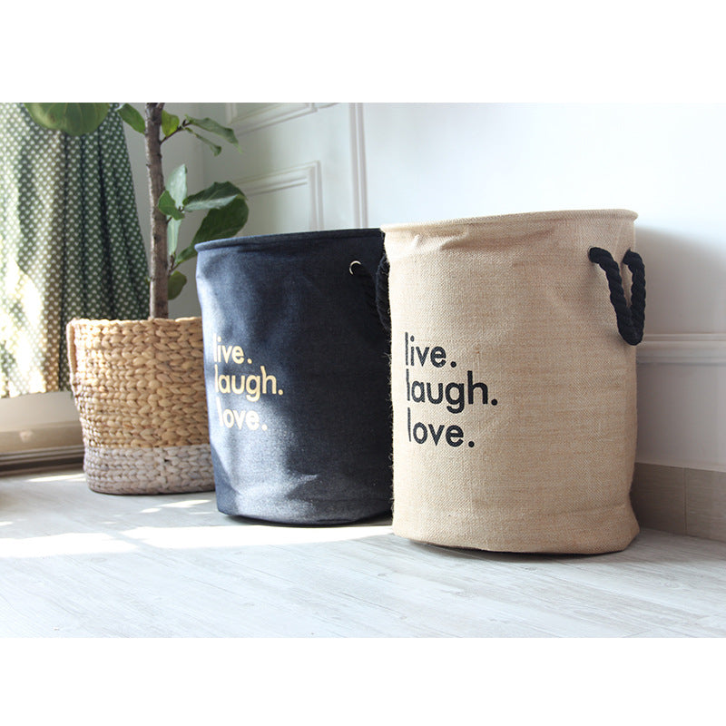 Large Printed Jute Basket