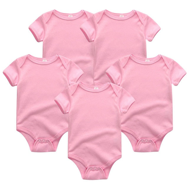 Short Sleeve 5pc Bodysuits
