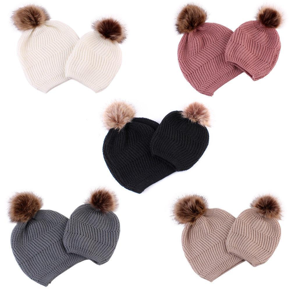 Warm Bobble Knitted Hat