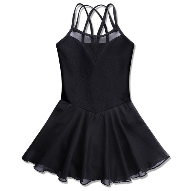 Criss-Cross Solid Tutu Dress