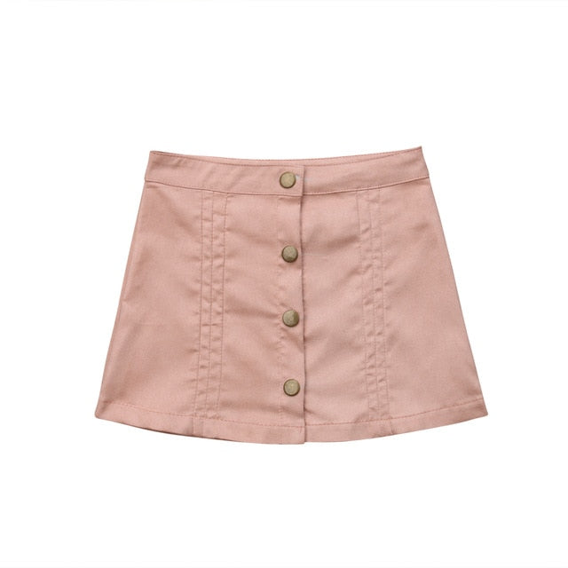 Cute Button Mini Skirt