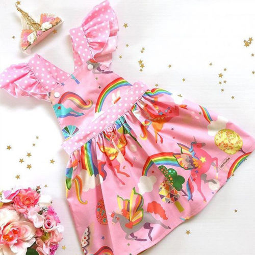 Unicorn Backless Party Dress