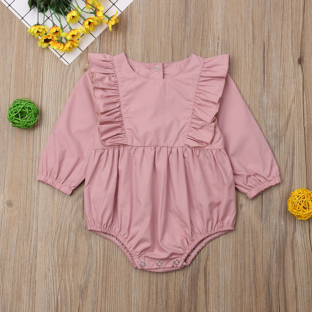 Long Sleeves Pink Romper
