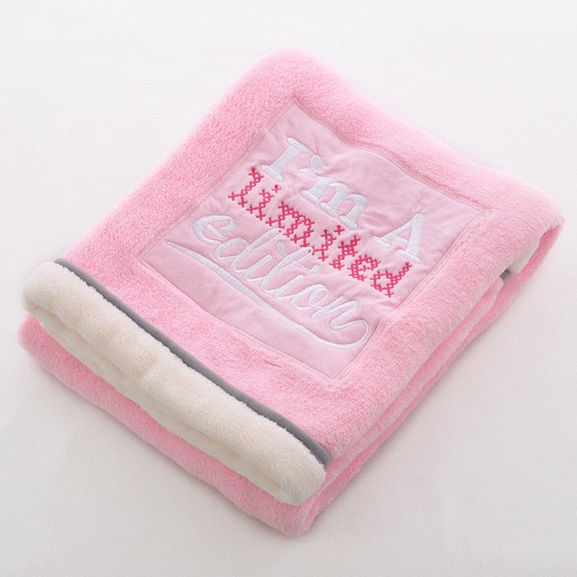 Thick Soft Embroidered Baby Blanket