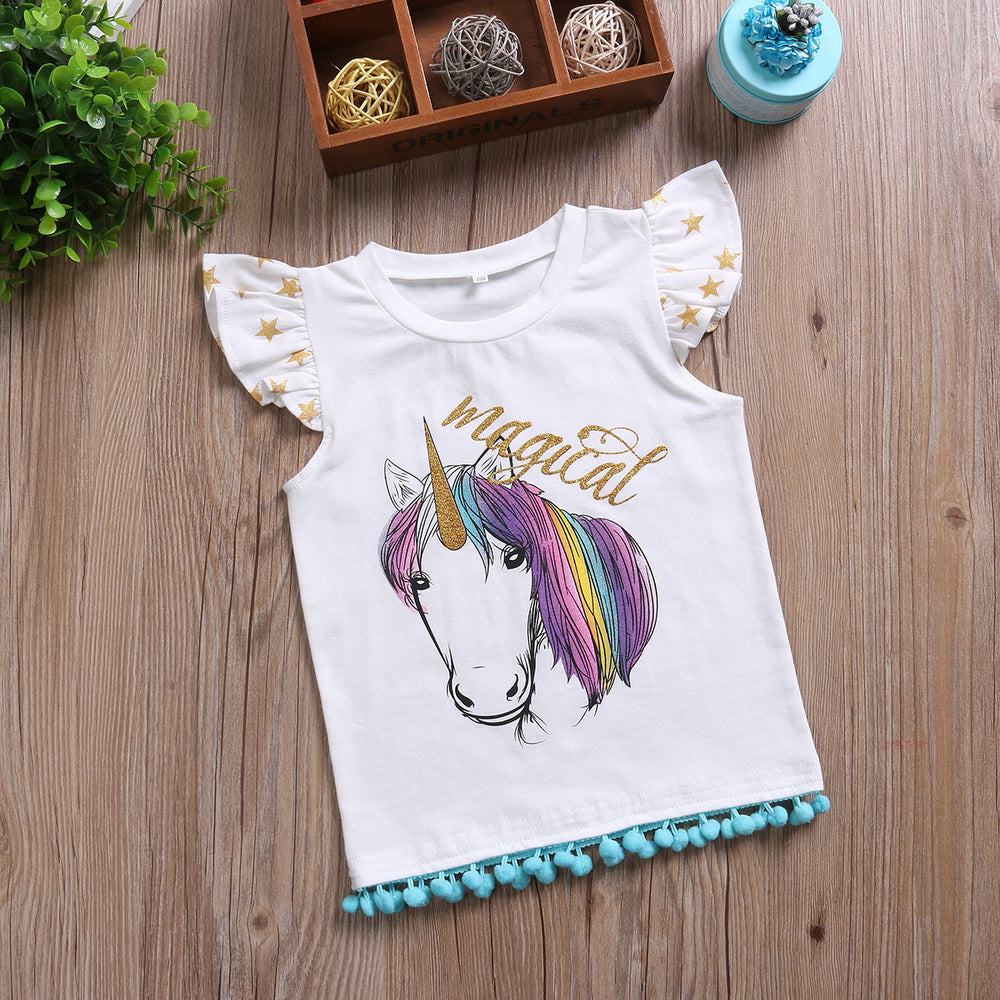 Summery Unicorn Tassled Tank