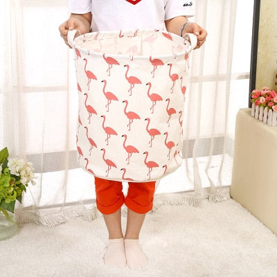 Foldable Cotton Linen Laundry Bag