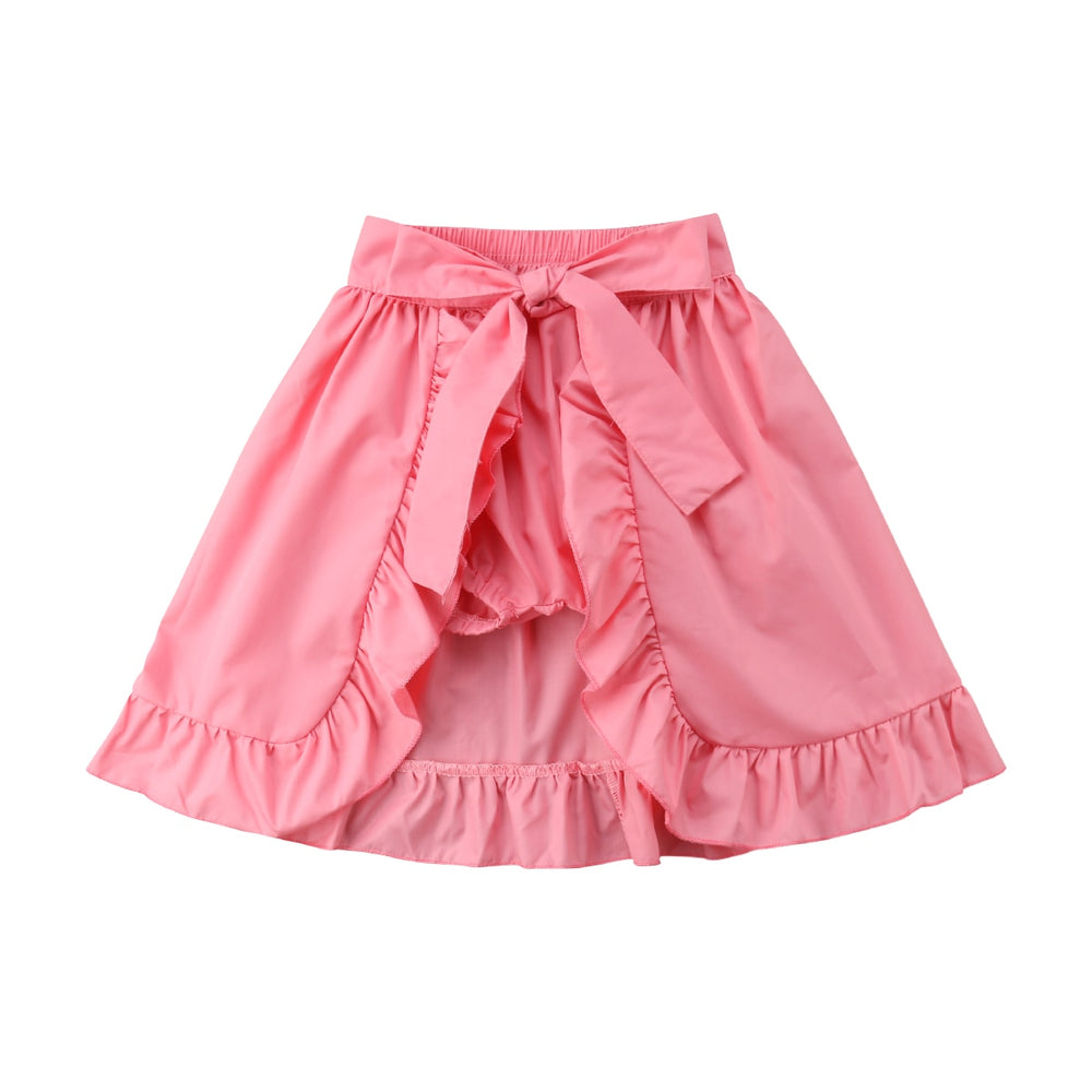 Baby Toddler Girl Shorts Skirts Ruffles Belt Hemlines