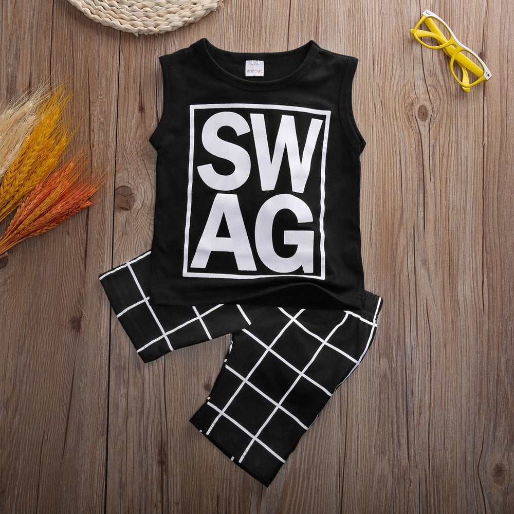 SWAG Printed Tank Top & Shorts
