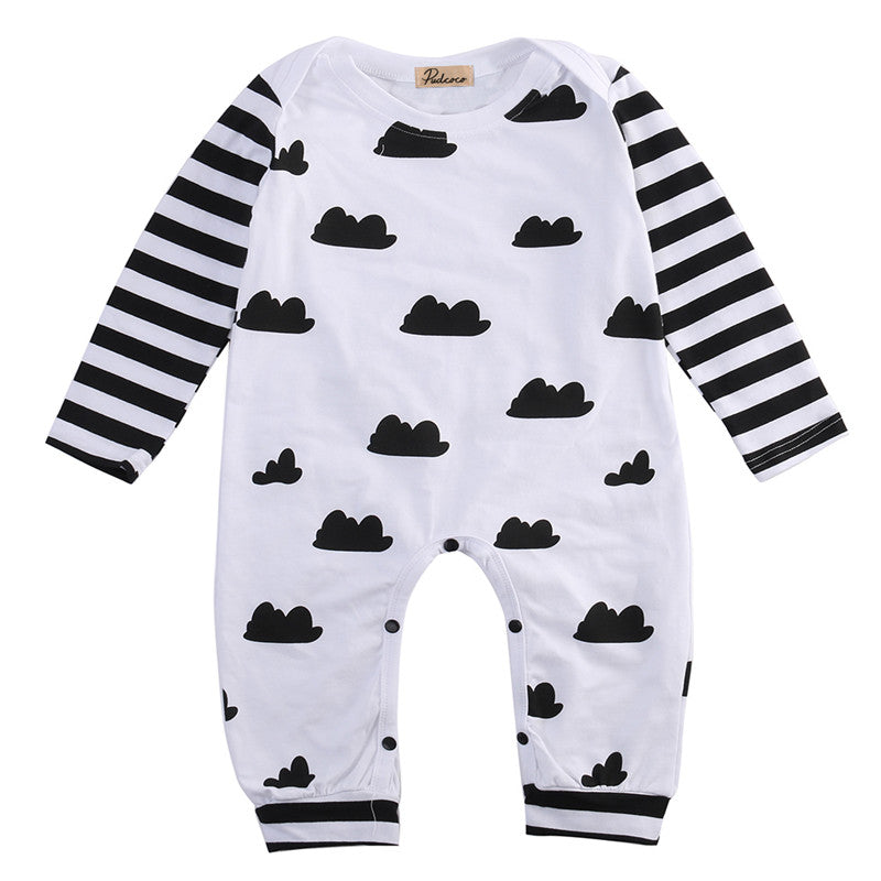 Long Sleeve Clouds Onepiece