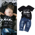 Cute Mama Print 2Pcs Set