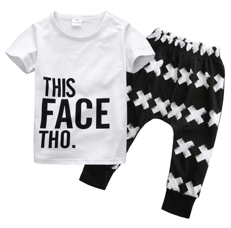 Cheeky Printed Pants & T-Shirt Set