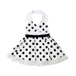 Polka Dots Buttons Decor Slip Dress