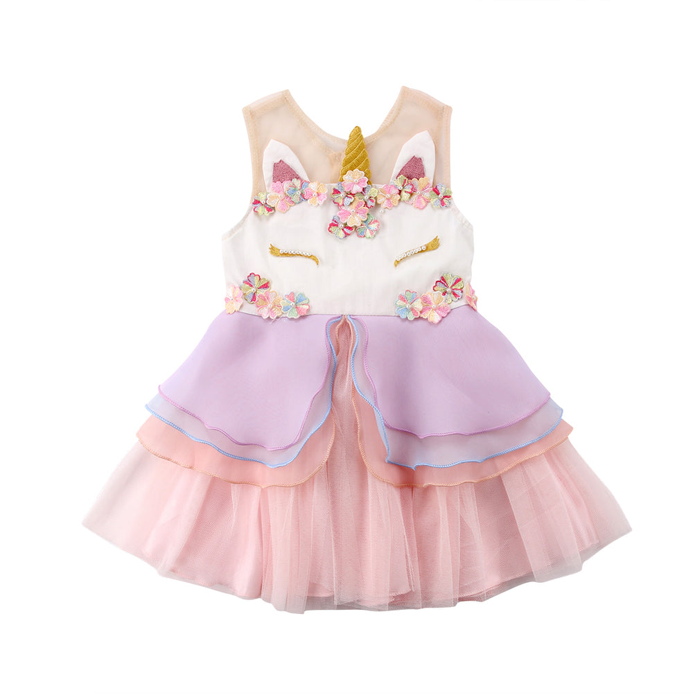 Sleeveless Unicorn Pageant Dress