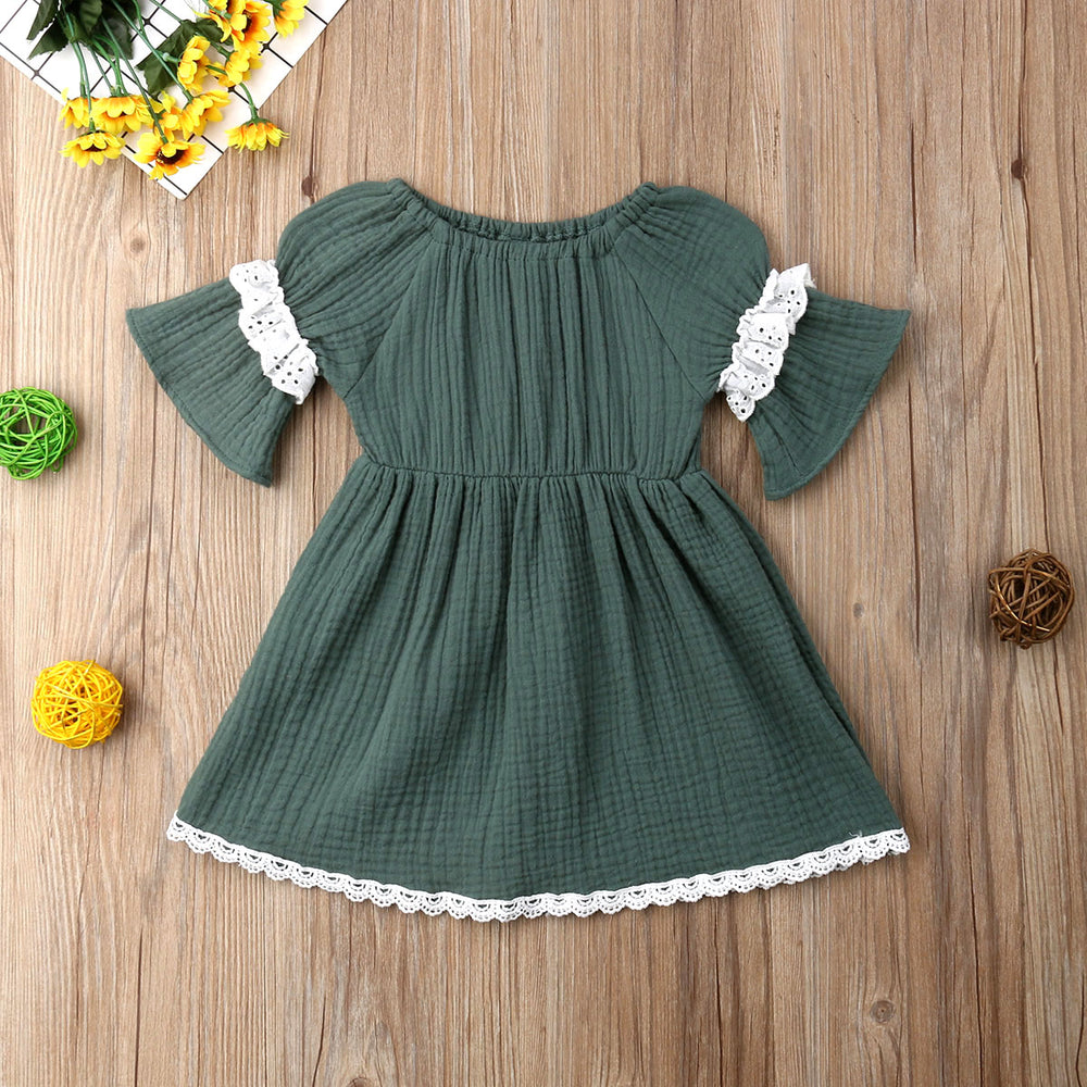 Fashion Lace Short Sleeve Dress