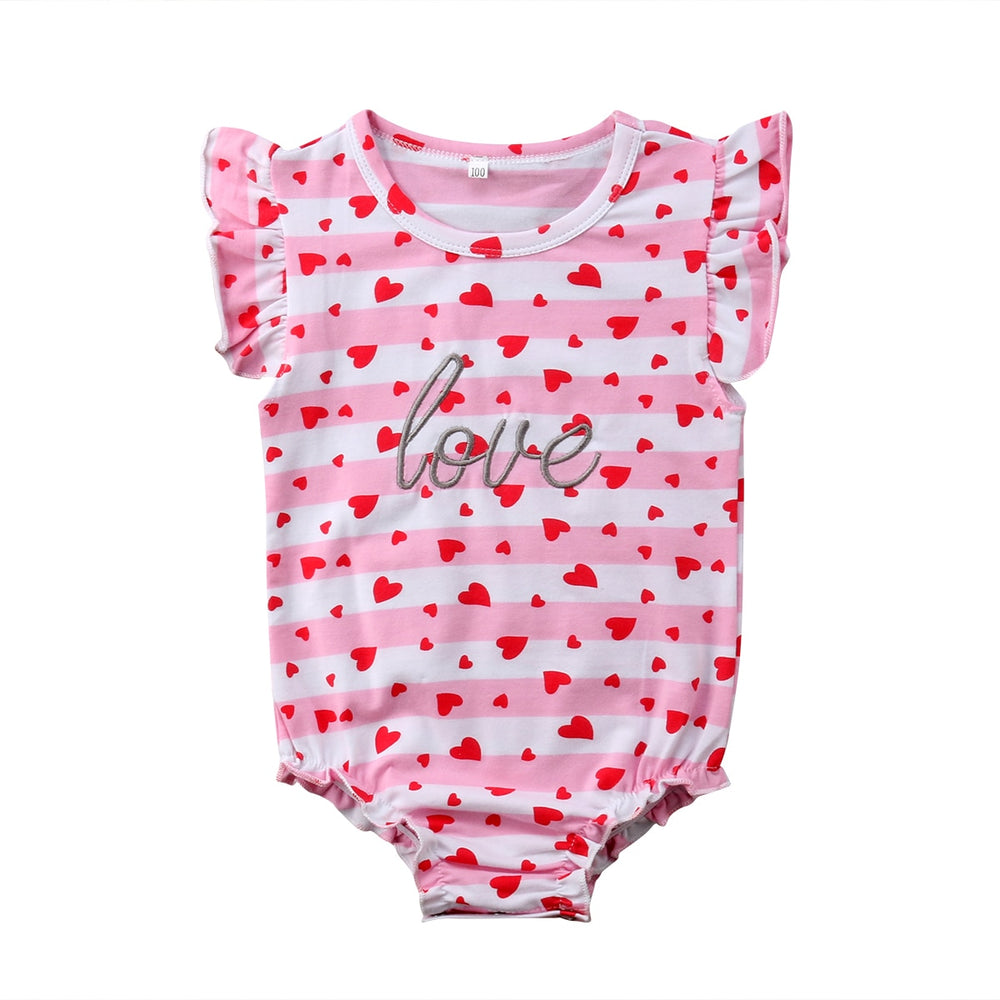 Full Heart Print Jumpsuit