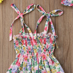 2pcs Princess Floral Romper