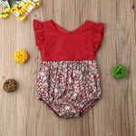 Floral Ruffles Romper Outfit