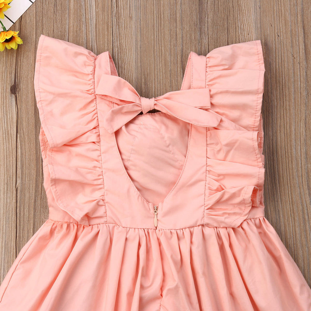 Summer Solid Sleeveless Dress