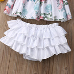 Floral Ruffle 2Pcs Set