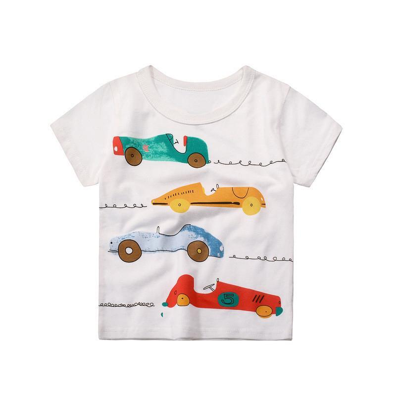 Carts and Planes Round Neck T-shirt