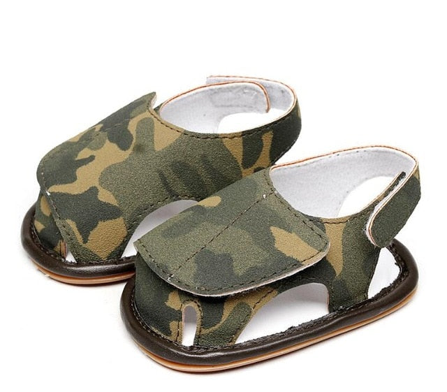 Hard Sole Camouflage Sandals