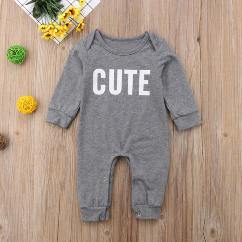 CUTE Cotton Long Sleeve Onepiece