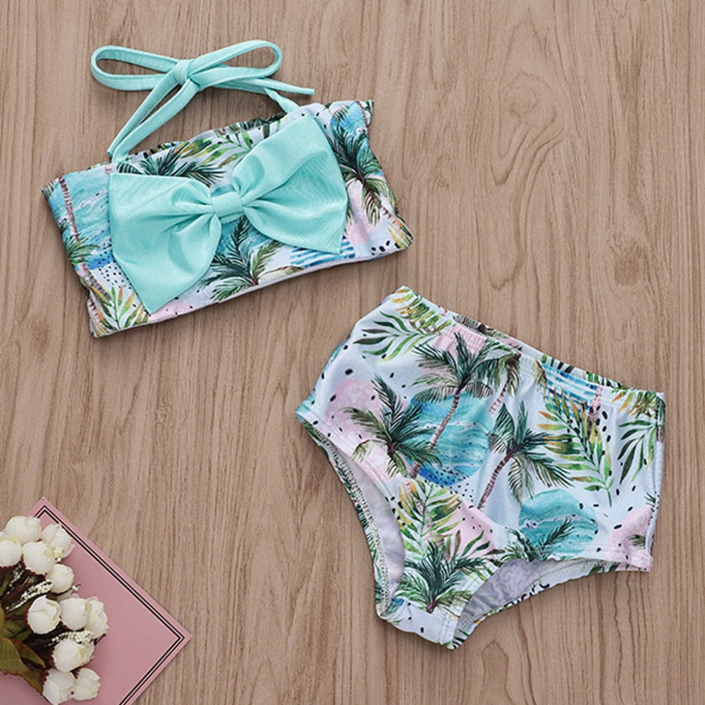 Cute Bow Leaf Bikini