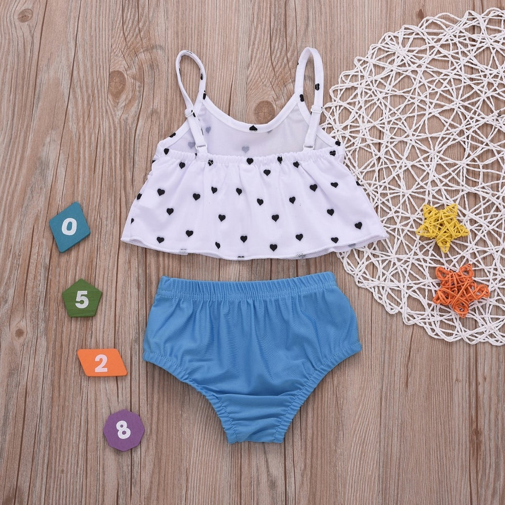 Cute Hearts Two Piece Swimsuit