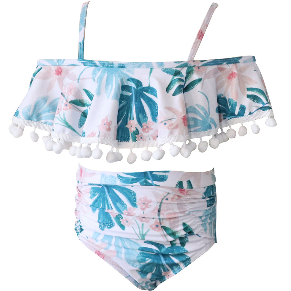 Cute Floral Ruffle 2-Piece