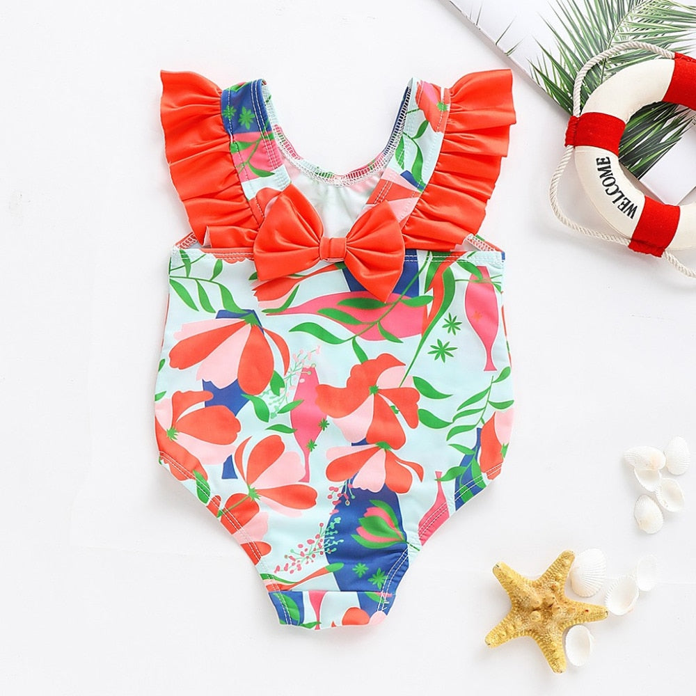 Red Tie One-piece Swimwear
