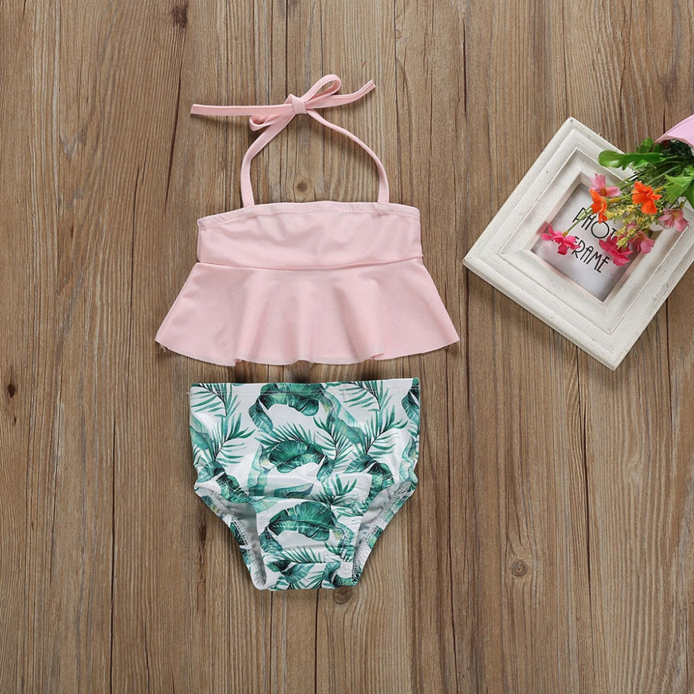 Leaf Print 2-Piece Swimwear